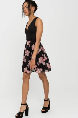 Ardene Caged Floral Mini Dress