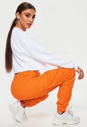 Missguided Petite Orange Plain Cargo Pants