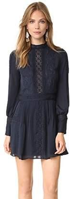 Haute Hippie Women's High Neck Victorian Mini Dress,4