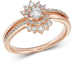 Bloomingdale's Diamond Flower Ring in 14K Rose Gold, 0.50 ct. t.w. - 100% Exclusive