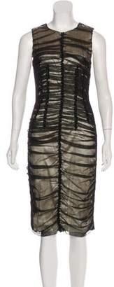 Dolce & Gabbana Mesh Ruched Dress