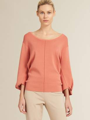 DKNY Knotted Sleeve Pullover