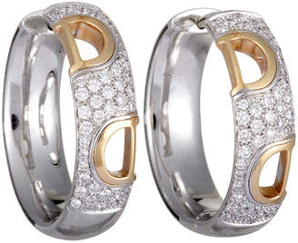 Damiani 18K Two-Tone 0.56 Ct. Tw. Diamond Hoops