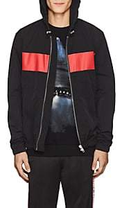 Givenchy Men's Logo-Print Hooded Windbreaker - Black