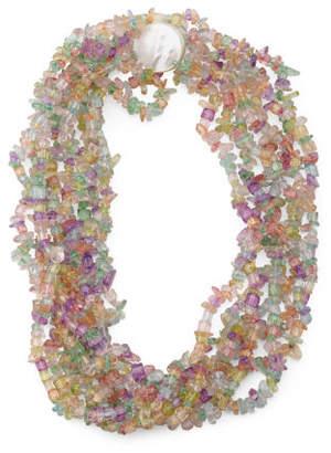 Pearl Multicolor Quartz 8 Row Necklace
