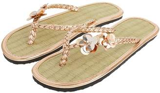 Accessorize Rose Gold Charmy Seagrass Flip Flop
