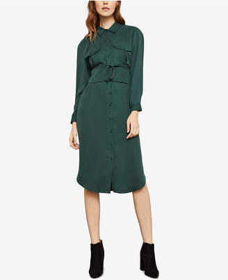 BCBGMAXAZRIA Corseted Shirt Dress