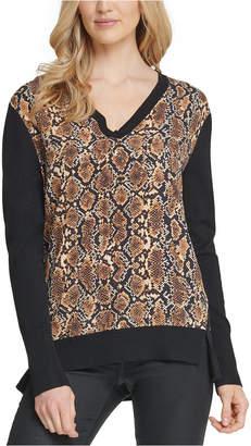 DKNY Mixed-Media Sweater