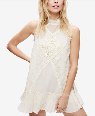 Free People Angel Lace Mixed-Media Dress $118 thestylecure.com