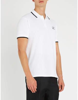 Bally x Shok-1 Pac-Man-motif cotton-piqué polo shirt