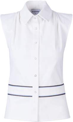 Acephala Vest Top White