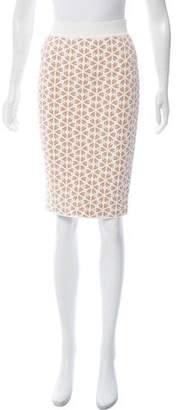 Alexander McQueen Jacquard Knit Skirt