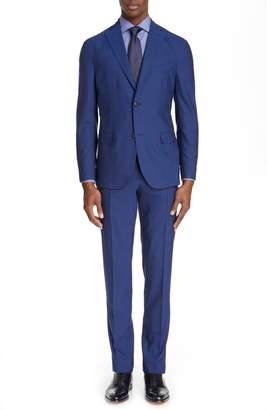 Boglioli Fresco Slim Fit Solid Wool Suit