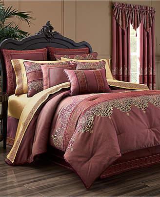 J Queen New York Ellington 4-Pc. Red California King Comforter Set Bedding