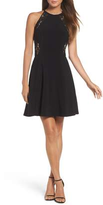 Xscape Evenings Lace & Jersey Party Dress
