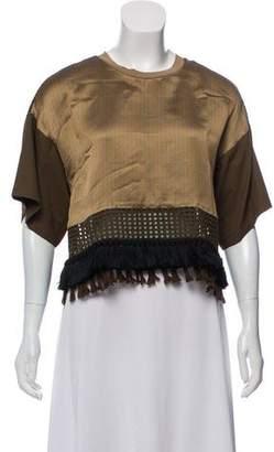 3.1 Phillip Lim Short Sleeve Fabric Block Blouse w/ Tags