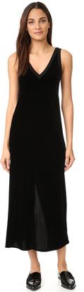DKNY V Neck Slip Dress with Back Slit $498 thestylecure.com