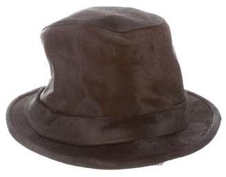 Stetson Fur and Leather-Blend Bucket Hat w/ Tags