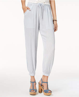 American Rag Juniors' Striped Soft Ankle Pants, Created for Macy's