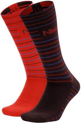 Nike Men's 2-pack Striped Dri-FIT Performance Crew Socks