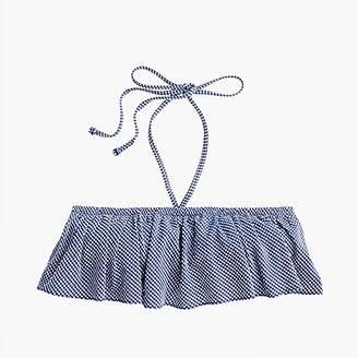 J.Crew Ruffle bandeau bikini top in tiny gingham