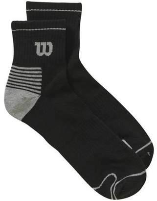 Wilson 6 Pack Men's Performance Quarter Top Sock