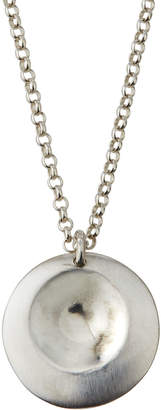 Alex Woo Lucia Small Disc Sterling Silver Pendant Necklace