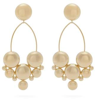 Isabel Marant Gold Plated Bubble Stud Drop Earrings - Womens - Gold