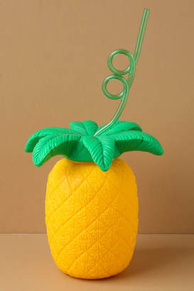 Sunnylife Pineapple Sipper Yellow Cup and Straw $14 thestylecure.com