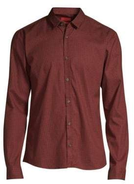 HUGO Extra Slim-Fit Ero Micro-Print Woven Shirt
