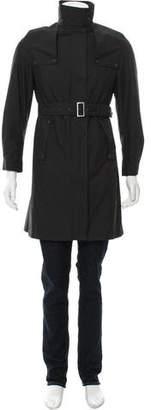 Burberry Woven Zip-Up Trench Coat