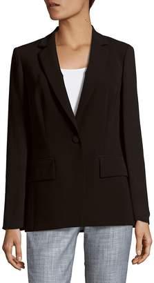 Lafayette 148 New York Women's Lorelle Sheer Sleeve Tech Cloth Jacket