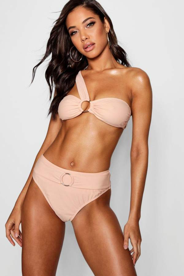 Ring Detail One Shoulder Bikini