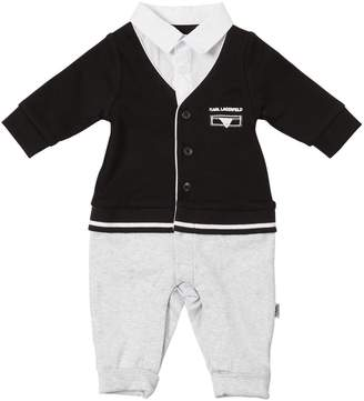 Karl Lagerfeld Cotton Interlock & Poplin Romper