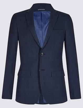 Marks and Spencer Indigo Checked Slim Fit Jacket