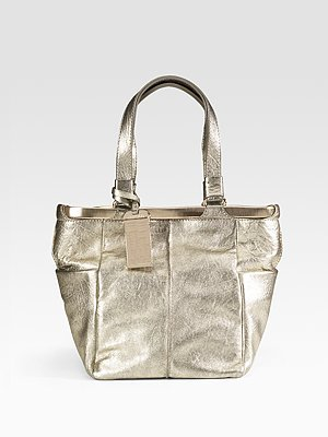 Jimmy Choo Medium Ella Metallic Tote