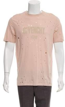 Givenchy 2017 Distressed Logo T-Shirt