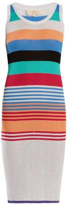 Diane von Furstenberg Striped Cotton Blend Dress - Womens - Multi