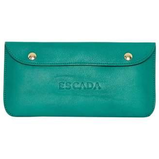 Escada Green Leather Clutch bag