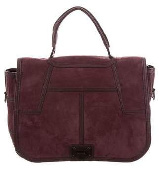 Rebecca Minkoff Leather-Trimmed Suede Satchel
