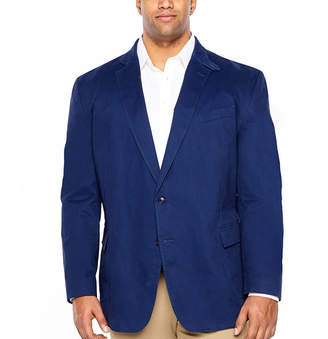 STAFFORD Stafford Navy Utility Classic Fit Sport Coat - Big and Tall