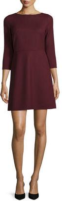 Theory Kamillina Saxton 3/4-Sleeve Dress $445 thestylecure.com