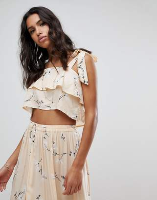 Faithful the Brand Faithfull Floral Tier Crop Top Co-Ord
