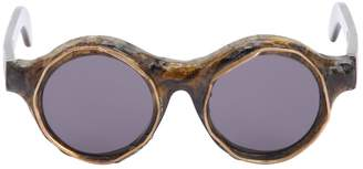 Bronze Burnt Round Sunglasses