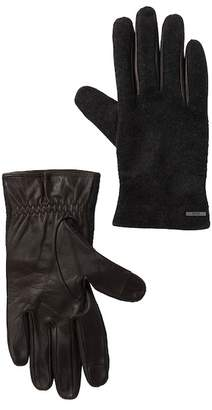 BOSS Wool, Cashmere, & Leather Touch Screen Compatible Gloves
