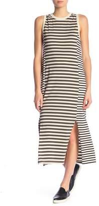 Current/Elliott Scoop Neck Stripe Print Maxi Dress