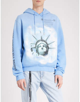 Off-White Statue of Liberty print cotton-jersey hoody