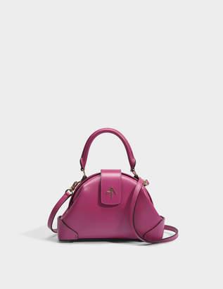 Atelier Manu Demi Top Handle Bag in Fuchsia Vegetable Tanned Calfskin