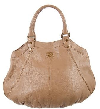 Tory Burch Tory Burch Taupe Grained Leather Tote