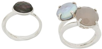 Wouters & Hendrix My Favourites pearls and agate stones ring